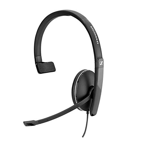 Sennheiser SC 135 USB (508316) - Einseitiges (Monaural) Headset für Geschäftsleute | mit HD-Stereo-Sound, Mikrofon mit Geräuschunterdrückung und USB-Anschluss (schwarz)