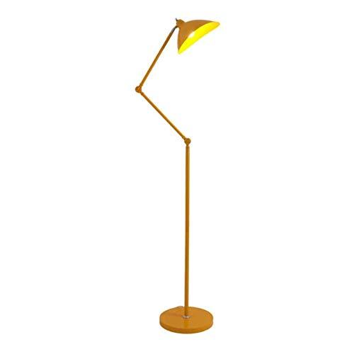 Luz de pie Lámpara de pie LED Lámpara de noche vertical Poste retráctil para sala de estar Dormitorio Sofá de noche Lámpara de poste interior (Color: Negro), Amarillo
