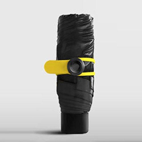 Mini-Faltschirm, kompakt, sehr winddicht, UV-Regen, Sonnenschirm, Reise-Regenschirm, schnell trocknend, leicht, verstärkt, winddichter Rahmen und rutschfester Griff, schwarz