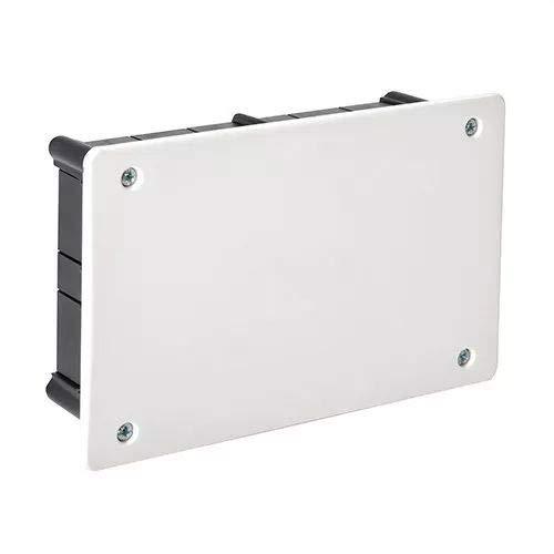 IDE CT114 IP33 Caja de Derivación de Empotrar con Tapa con Tornillos Metálicos, Negra, 108mm x 168mm x 50mm