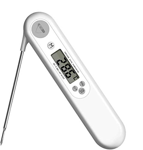 Termómetro digital de lectura instantánea para carne, termómetro de comida Zictec ultra rápido con retroiluminación LCD y temporizador, sonda termómetro de cocina para asar horno ahumador barbacoa
