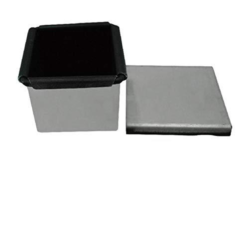 baking tray2pcs bread mold Non Stick Aluminiun Mini Square Shape Toast Box Bread Loaf Pan Baking Tray Bakeware Mould
