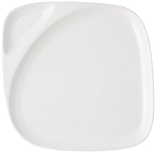 HOTELWARE Plat carré, 26 x 26 cm, Porcelaine, Blanc