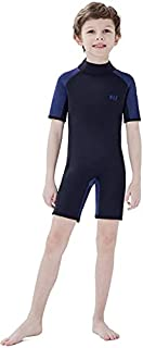 Dark Lightning Kids Wetsuit for Boys and Girls, 3mm Shorty Neoprene Thermal Swimsuit, Wet Suits Size 1-14 Cover Infant/Bab...