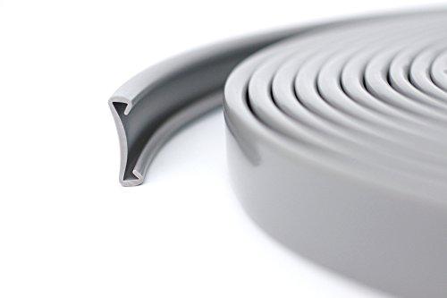 10m PVC Handlauf Treppenhandlauf Kunststoffhandlauf 40x8 mm hellgrau