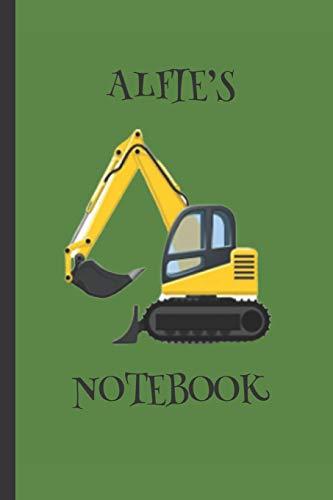 Alfie's  Notebook: Boys Gifts : Big Yellow Digger Journal