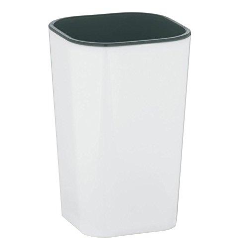 kela 22591 Gobelet Nuria en Plastique Blanc/Gris, 7,5 x 7,5 x 12 cm