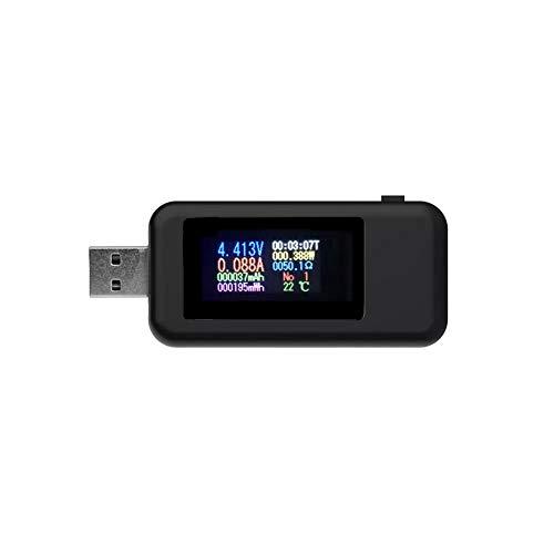 Roeam Medidor de Corriente y Voltaje USB Electrica,KWS-MX18 Comprobador de Corriente Tester...