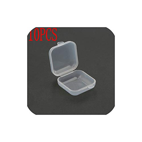 2019 New 3.53.52cm Small Plastic Storage Box for Jewelry Beads Earring Jewelry Container Transparent Square Box Case Container,10PCS