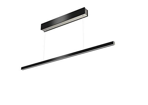 Preisvergleich Produktbild Evotec ORIX LED Pendelleuchte schwarz 120 cm / 2700-6500K / 18W / 1920 Lumen / Lichtsteuerung per Fernbedienung,  Aluminium,  18 W,  Transparent,  Small