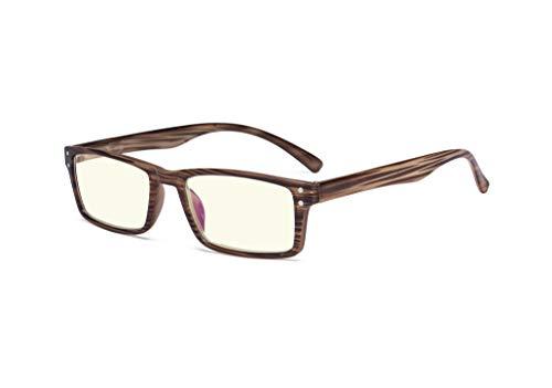 Eyekepper Protección contra rayos UV, rayos azules, lentes resistentes a los arañazos gafas de computadoras (Marrón, 0.00)