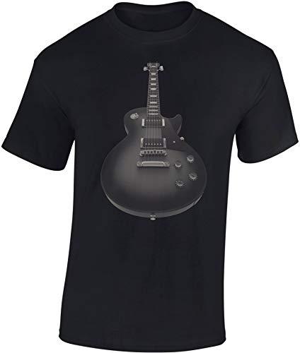 Camiseta: Guitarra eléctrica - Guitar - Guitarrista - Band-a - Grupo - Música Music-al - T-Shirt Hombre-s y Mujer-es - Fan - Rock - Heavy Metal - Bajo - Concierto Festival Show - Regalo (Negro M)