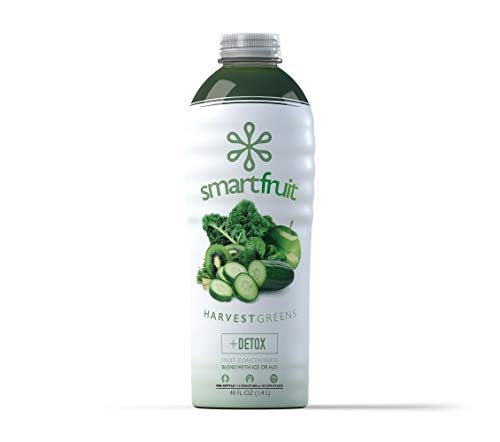 Smartfruit Harvest Greens + Detox, 100% Real Fruit Purée, Non-GMO, No Additives, Vegan - 48 Fl. Oz