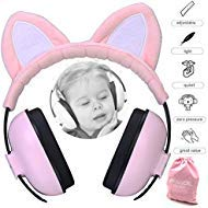 Image of Baby Ear Protection Ear Muffs for 3 Months to 2+ Years Noise Reduction Hearing Protection for Infant and Toddlers with Cat Ear. (Pink)