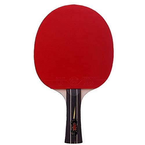 JIANGCJ bajo Precio. Ping Pong Paddle - 1 Pro Premium Table Tennis Raqueta, la Mejor Raqueta de Tenis de Mesa Profesional con Goma de Alto Rendimiento, Incluye Bolsas de Raqueta Regalo