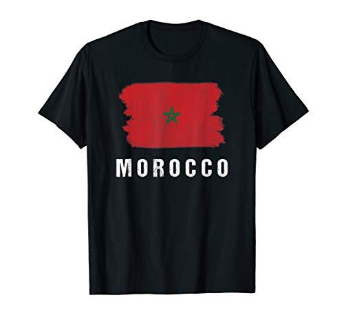 Gemalte Marokko Fahne / Marokkanische Flagge Fan Geschenk T-Shirt