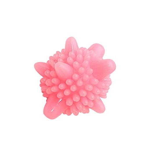 wyxhkj 5 Stücke Waschbälle Flusenbälle Fusselfänger,Sterilisation Antistatische Anti-Knoten SauberBall für Waschmaschine (Pink)