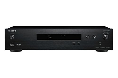 Onkyo NS-6170 Netzwerk-Audio-Player (37 Watt, Hi-Res Audio, WLAN, AirPlay, Musik Apps wie Spotify u.a., integrierte Chromecast-Technologie, FlareConnect) Schwarz
