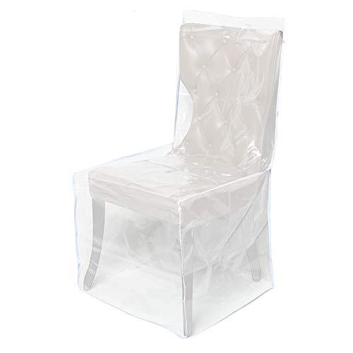 Fundas de plástico para comedor de PVC impermeable para niños, protectores transparentes de alto rendimiento para proteger la silla de comedor de las huellas de polvo y las garras de agua.