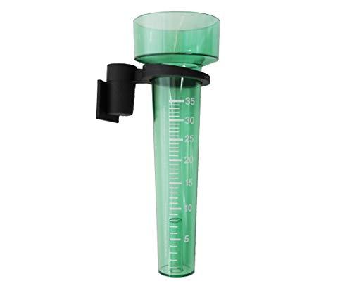 KOCH Regenmesser (L). grün/transparent mit Halter
