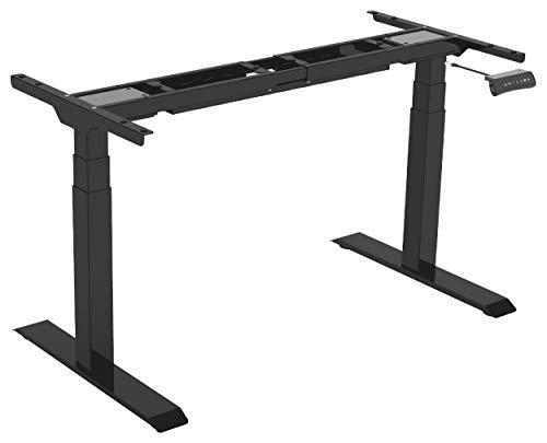 Gedotec Tischgestell Schreibtisch Möbelfuß höhen-verstellbar 580-1230 mm - Officys Econo | Metall Tischbein schwarz | Tisch-Gestell mit 125 kg Tragkraft | 1 Stück - Tischfuß elektrisch einstellbar