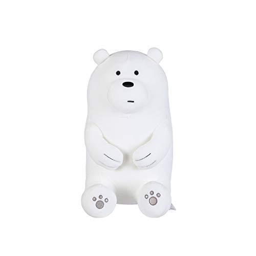 "MINISO We Bare Bears Plush Ice Bear 11"" Lovely Cute Sitting Stuffed Toy Pillow Gift for Boy Girl Kids"