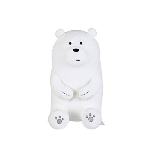 "MINISO We Bare Bears Plush Ice Bear 11"" Lovely Cute Sitting Plushies Stuffed Animal Toy Pillow Gift for Boy Girl"