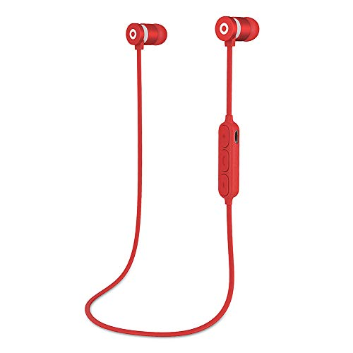 Aijin Drahtlose Bluetooth-Kopfhörer, 360 ° Stereo-Magnet Subwoofer In-Ear-Bluetooth Headset V 4.2 Effiziente Übertragung Geeignet Für IOS Und Die Meisten Android-Handys,B
