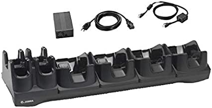 Zebra Enterprise CRD-TC8X-5SE4BC-01 4 Slot Ethernet Cradle with 4 Slot Spare Battery for TC8000 Touch Mobile Computer, Requires Power Supply, DC Cable and AC Line Cord