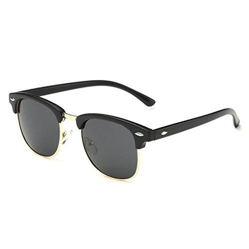 QHGstore Protección UV Hombres Mujeres Deportes Gafas de sol polarizadas Gafas de sol Brillante Negro / Negro