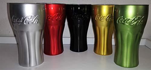 Cristal / Vasos / Retro / Vintage / Coca-Cola/Luminarc/Metálico Colores / Set...