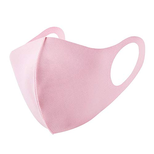 4PCS Stofmaskers, Fashion Anti Stofmasker Mondmasker Herbruikbare Washable Anti Pollution Mask Gezichtsmasker Unisex For Outdoor-activiteiten Ademend katoen (Color : Pink)