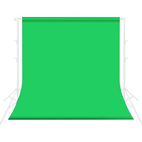 ZXC Pantalla De Fondo Chroma con 4 Clips Key Musel Verde TelóN De Fondo Adecuado para VíDeo/FotografíA,Webcast,Marco De Fondo(Size:2 * 1m)