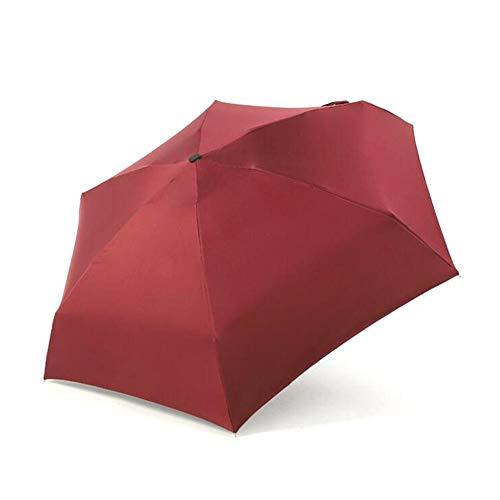 NMSLA Super Light Flat Five-Folded Umbrella, Sun Protect Rain Umbrella, Folding Mini Pocket Umbrella efficient Imaginative Best Service