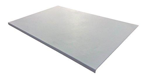 Luxentury Schreibtischunterlage 880 x 590 mm Leder mit Kantenschutz gewinkelt / 90° abgewinkelt weiß für USM Haller Tisch