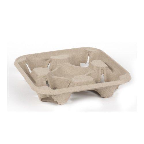 Einweg-Tragetablett/Becherhalter, für 4 Becher, 750 Stück, ideal für Partys, Grillabende, Picknicks und Veranstaltungen