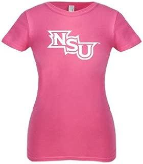 CollegeFanGear Northwestern State Next Level Girls Fuchsia Fashion Fit T Shirt 'NSU'