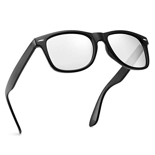 Polarized Sunglasses For Men Women Retro TR90 Frame Square Shades Vintage BRAND DESIGNER Classic Sun Glasses (Polarized White lens)