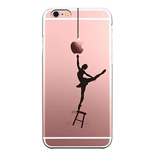 Caler®, custodia per iPhone 6 e6S da 4,7 pollici, morbida, flessibile, in silicone, trasparente, ultrasottile, con poliuretano termoplastico, protezione completa, antiurto, ottima qualità