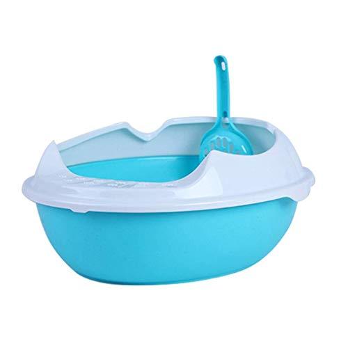Cxjff Toilette for Gatti Shape Forma ellittica Materiale PP Cassetta for Animali Domestici Semi-Chiusa Igienica Antiscivolo 47 & Volte; 37 & Volte; 18 cm (Color : D)