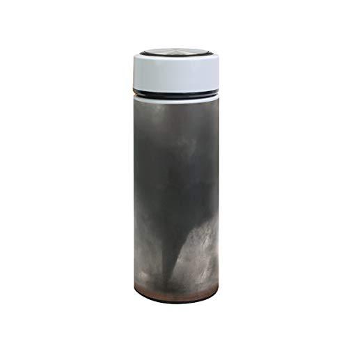 Thermos di imballaggio a prova di perdite in acciaio inossidabile Tornado di disastro 12 oz Borraccia Bottiglia doppia parete