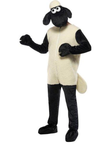 Smiffys Licenciado oficialmente Costume Shaun the Sheep, Blanc, avec combinaison-pantalon et coiffe