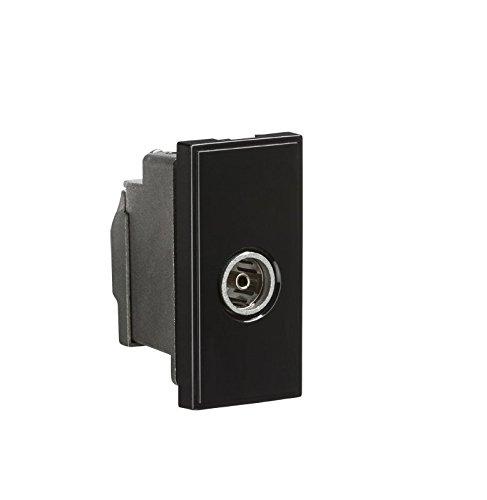 ml695–Schwarz Modular Abgeschirmtes TV Koaxial Antennen Steckdose, 35mm, IP20W/einjährige Garantie von