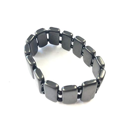 Shungite Dark Side Of The Moon Bracelet, Authentic from Russia, Stop 5g WiFi, UK Supplier