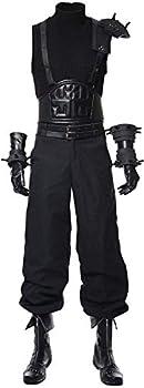 GLEST Cloud Strife Cosplay Costume Uniform Shirt Pants Set for Men s Halloween Dress  XS Full Set
