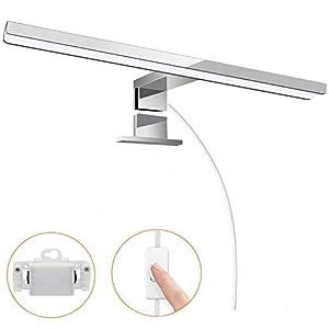 Lámpara de espejo, 6W 30cm Lámpara LED de paredAplique Espejo Baño LED Impermeable Luz Espejo Baño Blanco Frío 2 en 1…