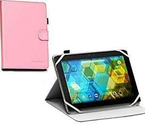 Navitech Pink Faux Leather Case Cover - Compatible With Acer Iconia One 10 Tablet B3-A40