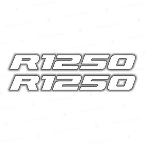 2pcs Adhesivo R1250 Compatible con Motorrad R1250 GS Adventure R 1250 HP 2019 (Blanco)