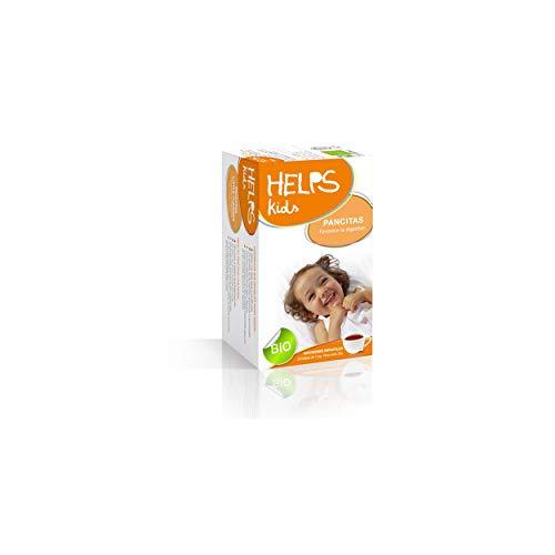 HELPS INFUSIONS - Infusion biologique pour enfants et bébés avec camomille, anis vert et mélisse. Améliore la digestion et élimine les gaz. Aide pour Pancitas. Boîte de 20 sachets.