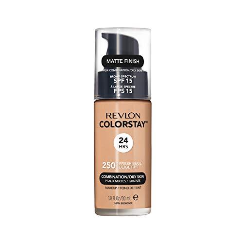 REVLON, Fondotinta Colorstay per pelli grasse, flacone con dispenser, 30 ml, 250 Fresh Beige
